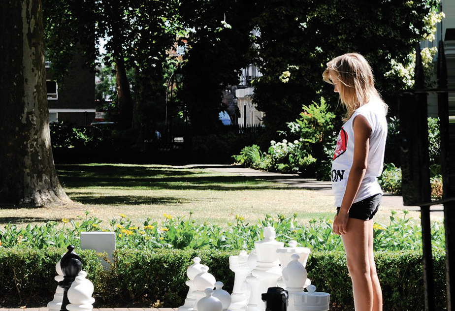Norfolk Square Gardens giant chess