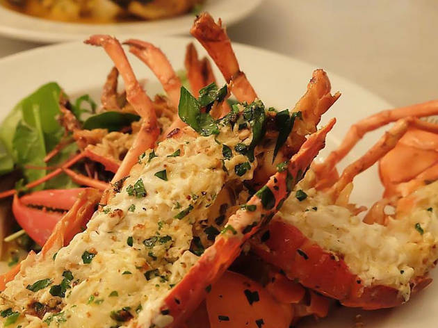 garlic and herb lobster