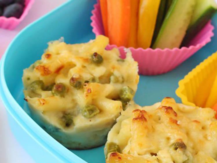 Macaroni lunch box muffins