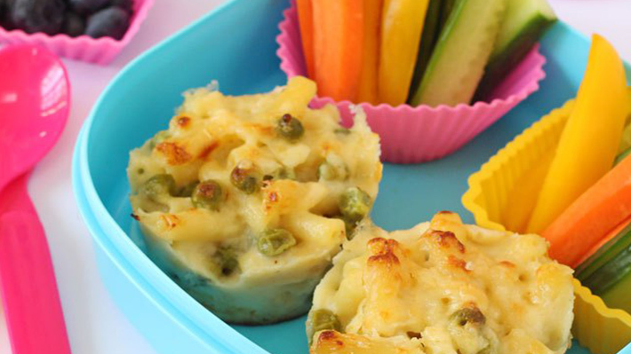 Macaroni lunch box muffines
