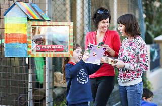 Newtown Sydney - 11th August 2016. The City of Sydney is supporting a new Street Libraries project. These mini libraries are being installed across Sydney