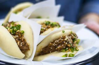 Gangon'un hazırladığı bao sandviçleri