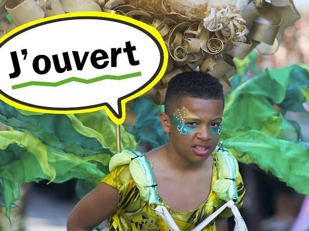 Carnival lingo: j'ouvert