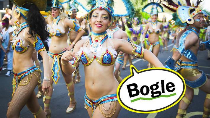 Carnival lingo: bogle