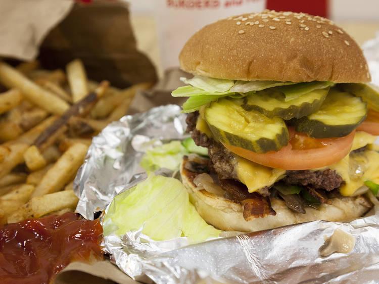 Cheeseburger at Five Guys Burgers and Fries