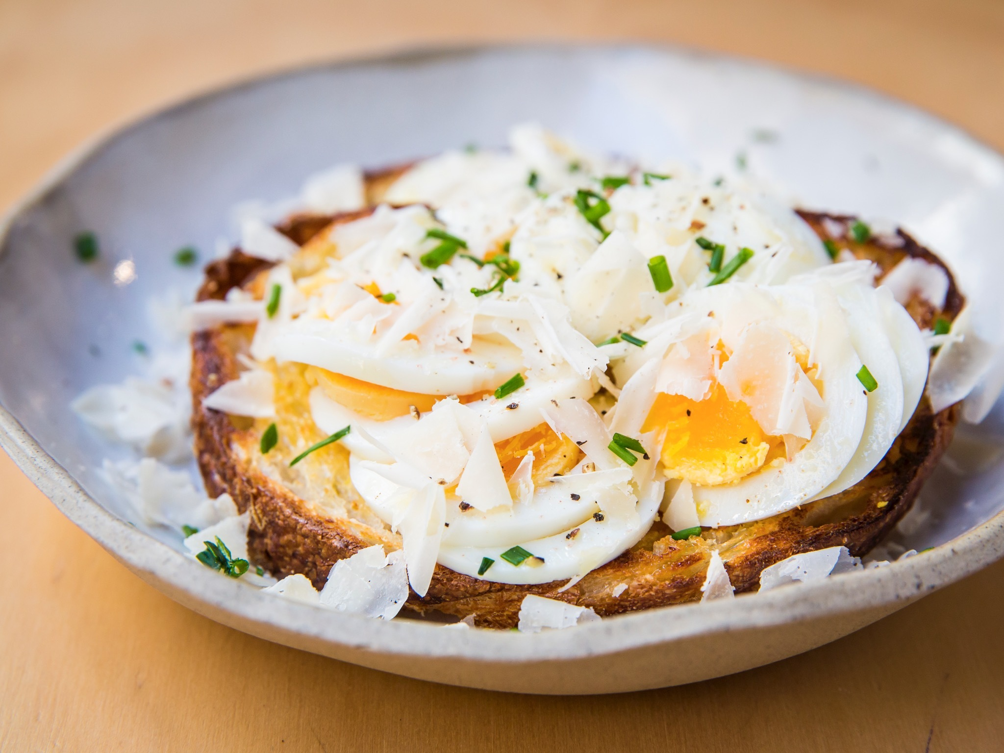 Eggs on toast at Skittle Lane