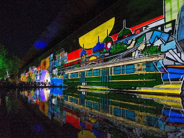 Projection art at White Night