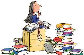Illustration of Matilda, by Roald Dahl