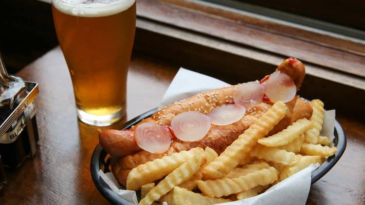 Hotdog at Royal Albert Hotel