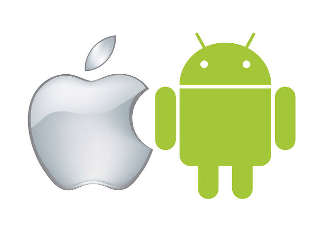 Logos da Apple e do Andróide