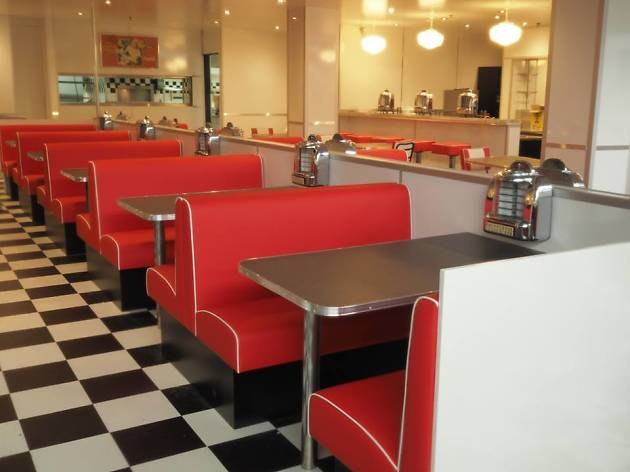 Share a milkshake at an old-school diner