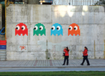 Invader street art graffiti Hong Kong