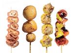 Hong Kong street food sticks skewers