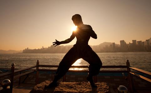 Bruce Lee statur Avenue of Start Tsim Sha Tsui