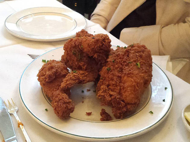 Fried chicken at Galatoire's in New Orleans, LA