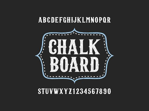 Taller de tipografía en pizarrón