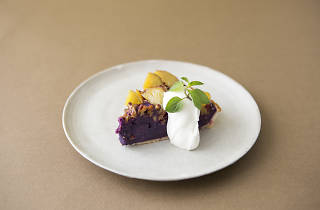紫芋のスイートポテトタルト