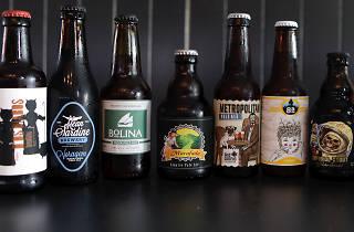 Conjunto de cervejas do bar Boeheme