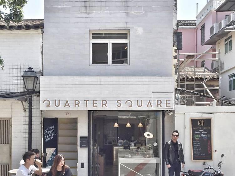 Grab a coffee at Quarter Square