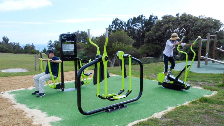 Outdoor Gym at Christison Park (Photograph: Woollahra Council)