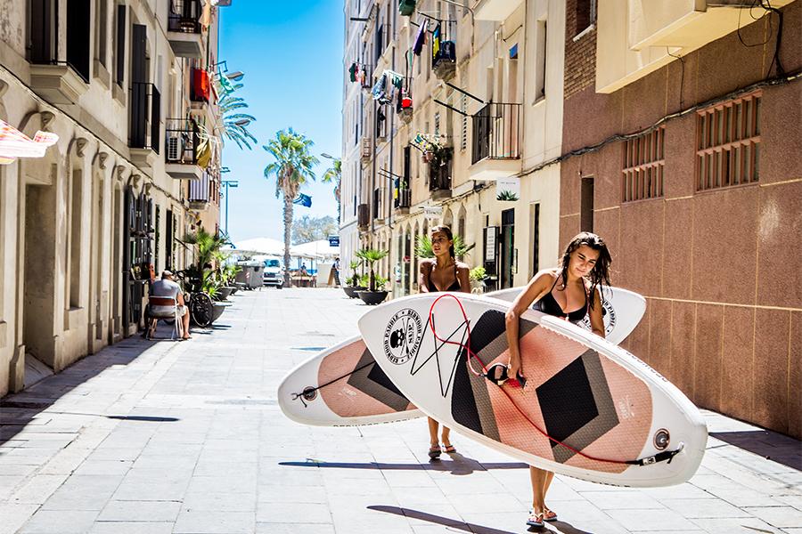 Paddle Surf carrer de Meer