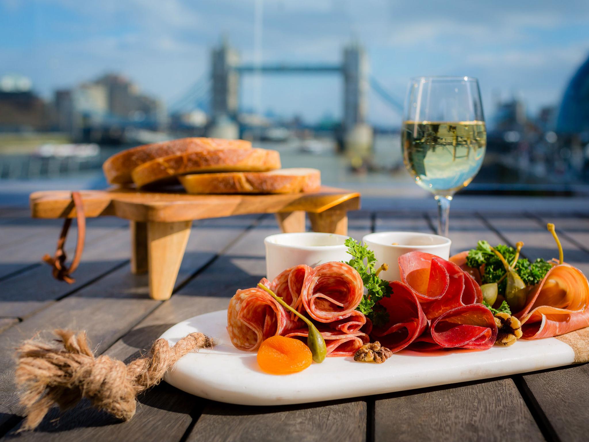 best boat bars in london, hms belfast