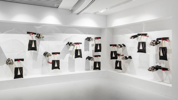 Black bag installation at K11 Shanghai