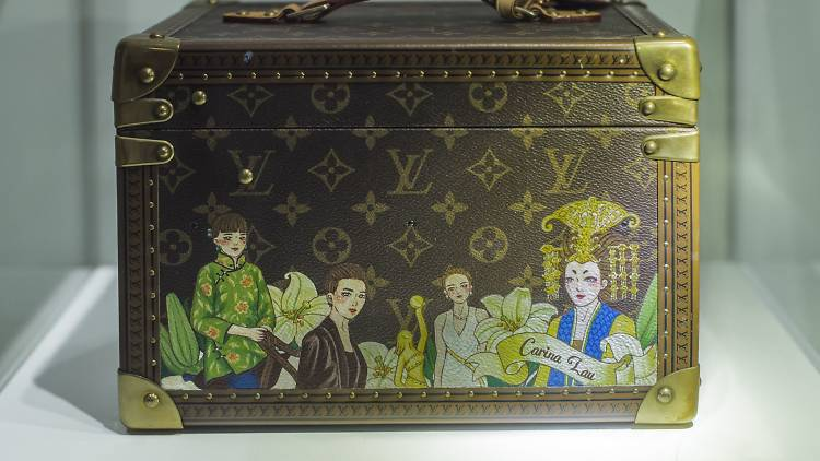LV chest with manga impression of the actress' past roles