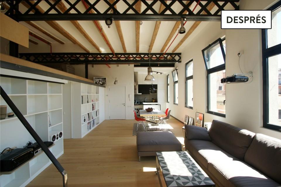 De fàbrica tèxtil a un loft d'autor a Gràcia