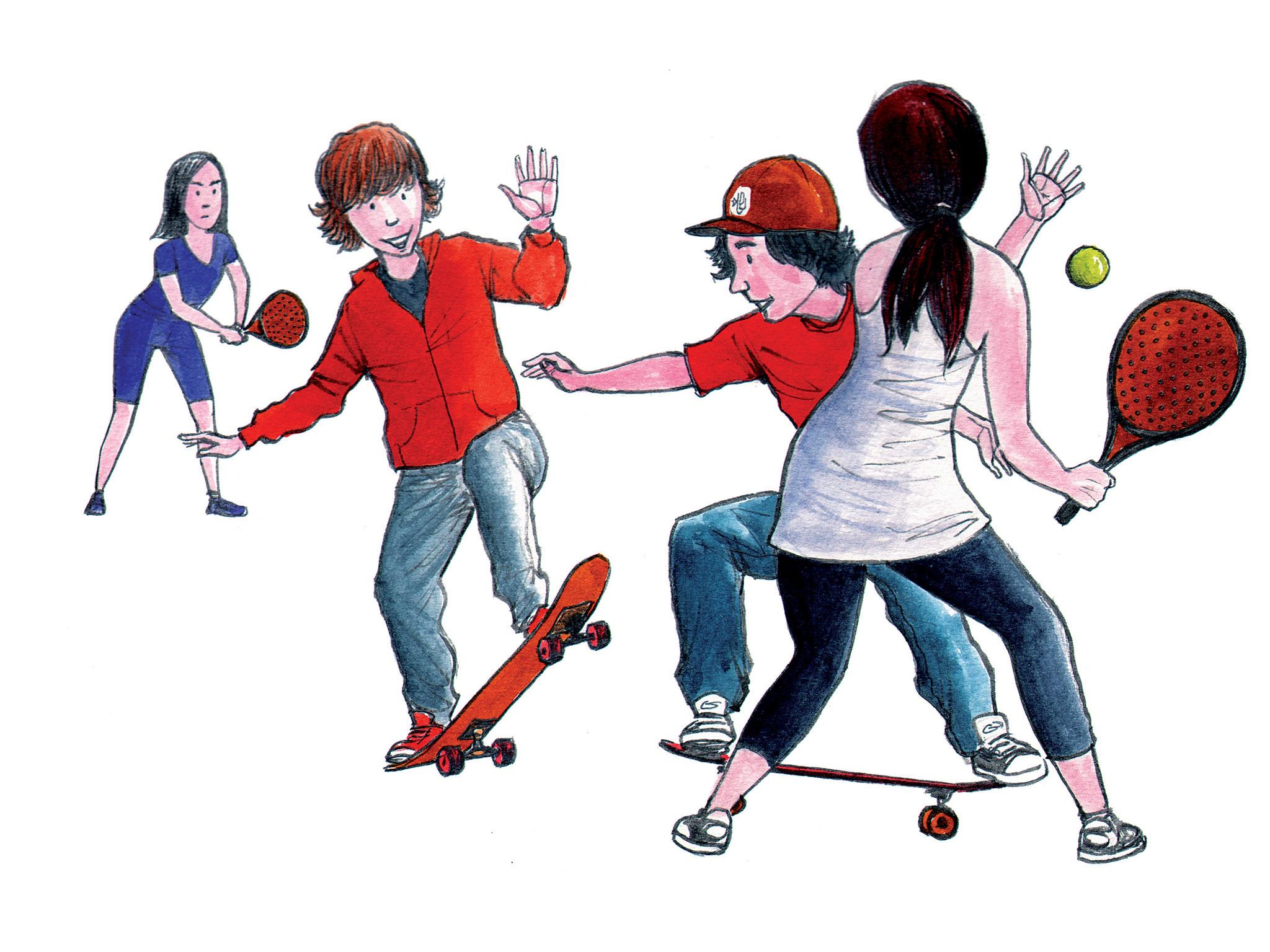 Ilustração desportistas