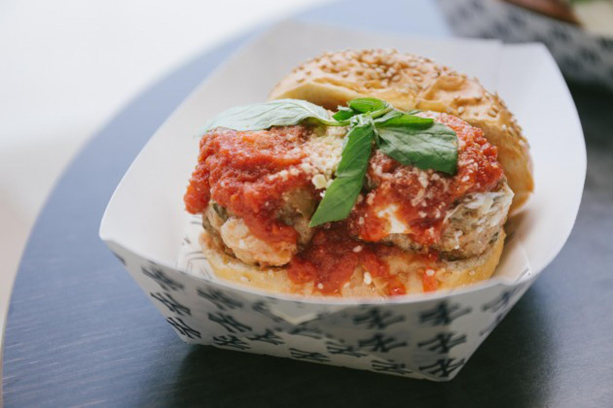 Metaball parmesan sandwich