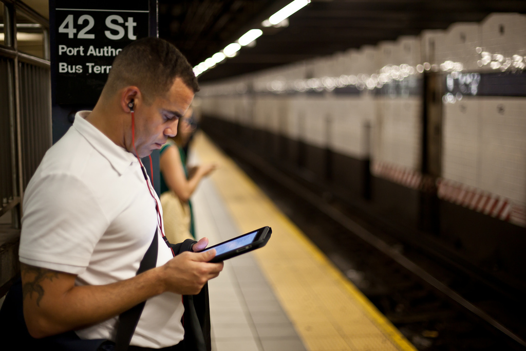 You can now download free books on the subway timed to your commute