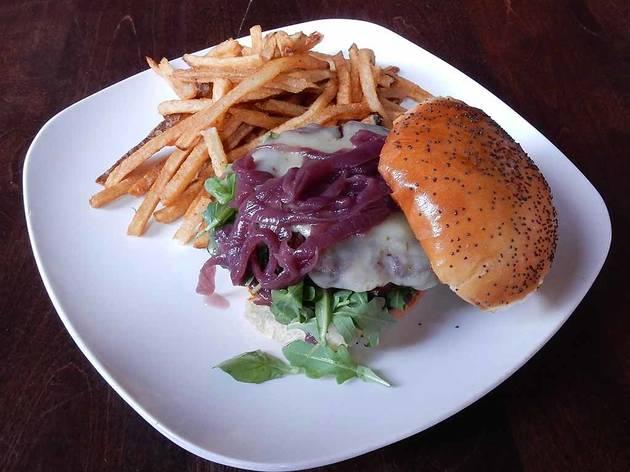 Veggie Burger at Revolution Brewing