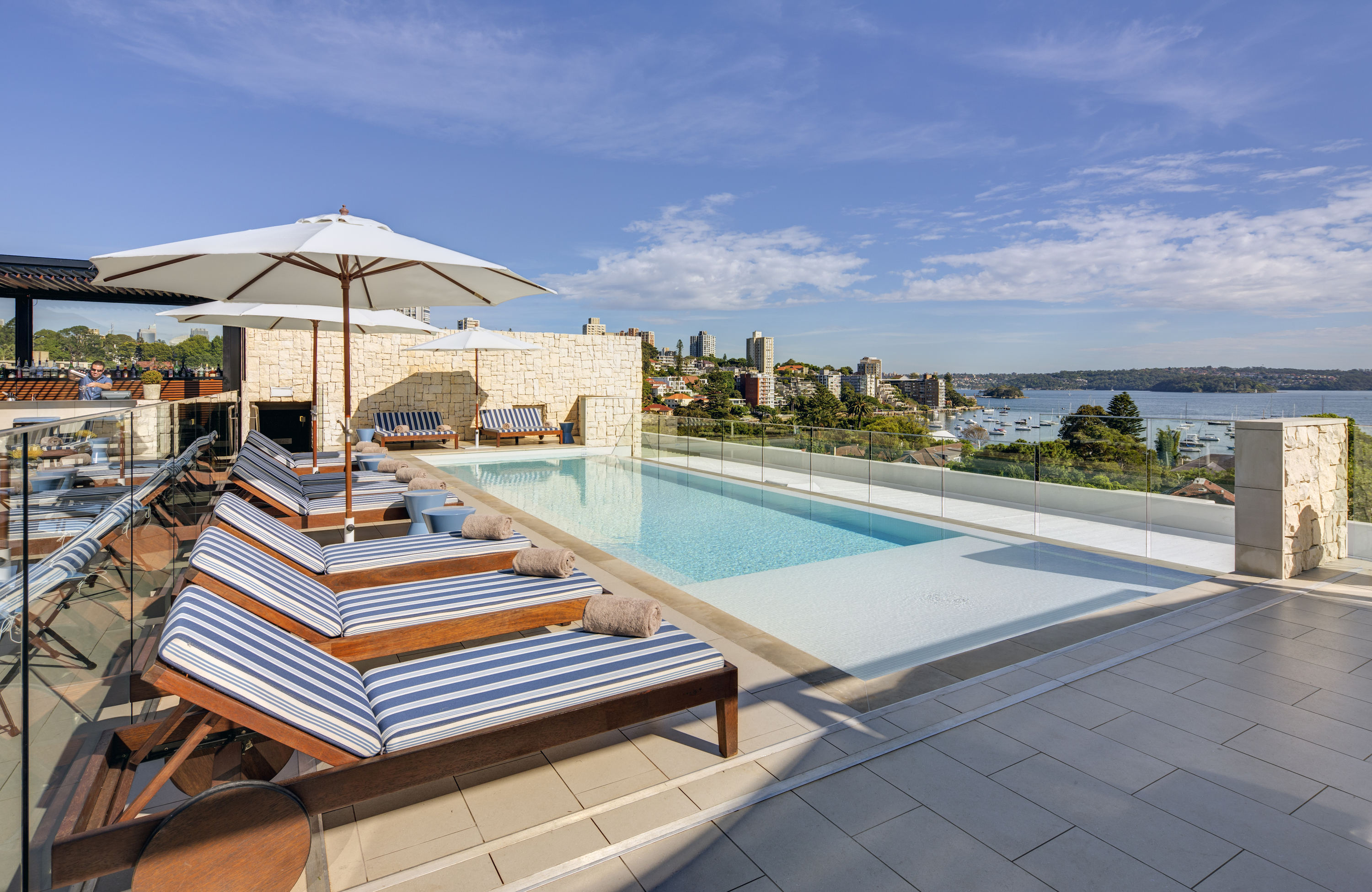 How soon can you swim in a rooftop pool?