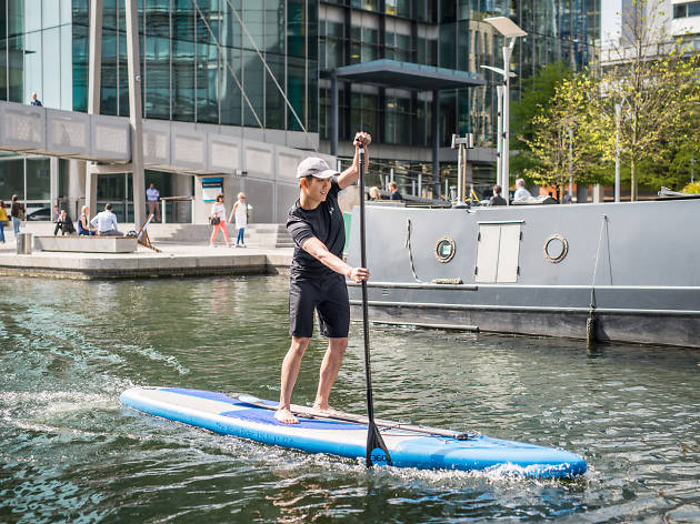 Paddleboarding in Paddington