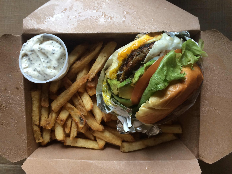 Veggie burger at Butcher & the Burger