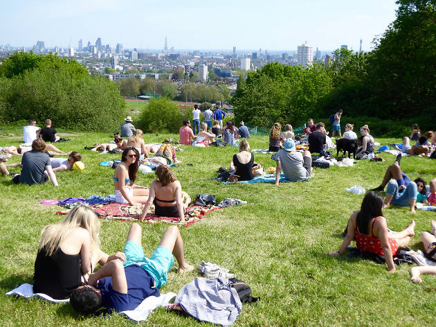 Sunbathing on Hampstead Heath