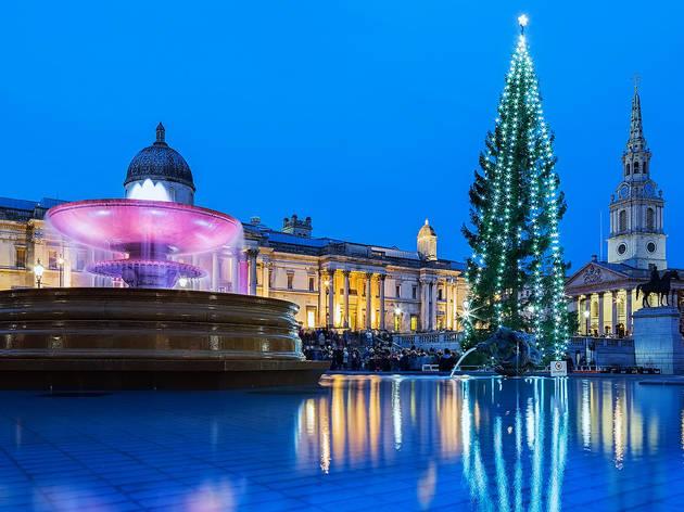 Trafalgar Square's Christmas makeover, 2014