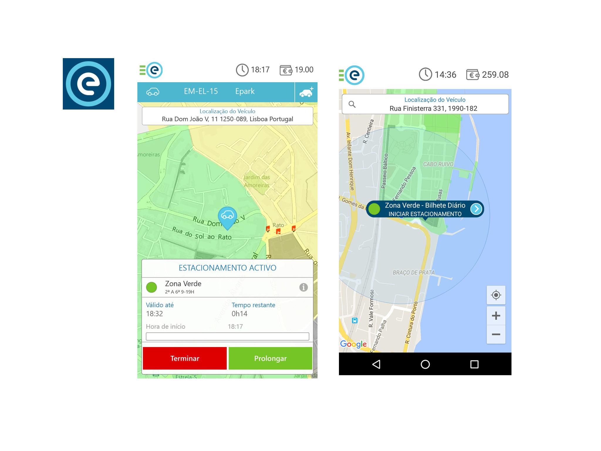 Aplicação Emel Park