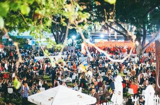 Crowds at Night Noodle Markets 2015