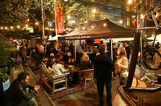 The marquee of Taste of Orange @ Sydney at night