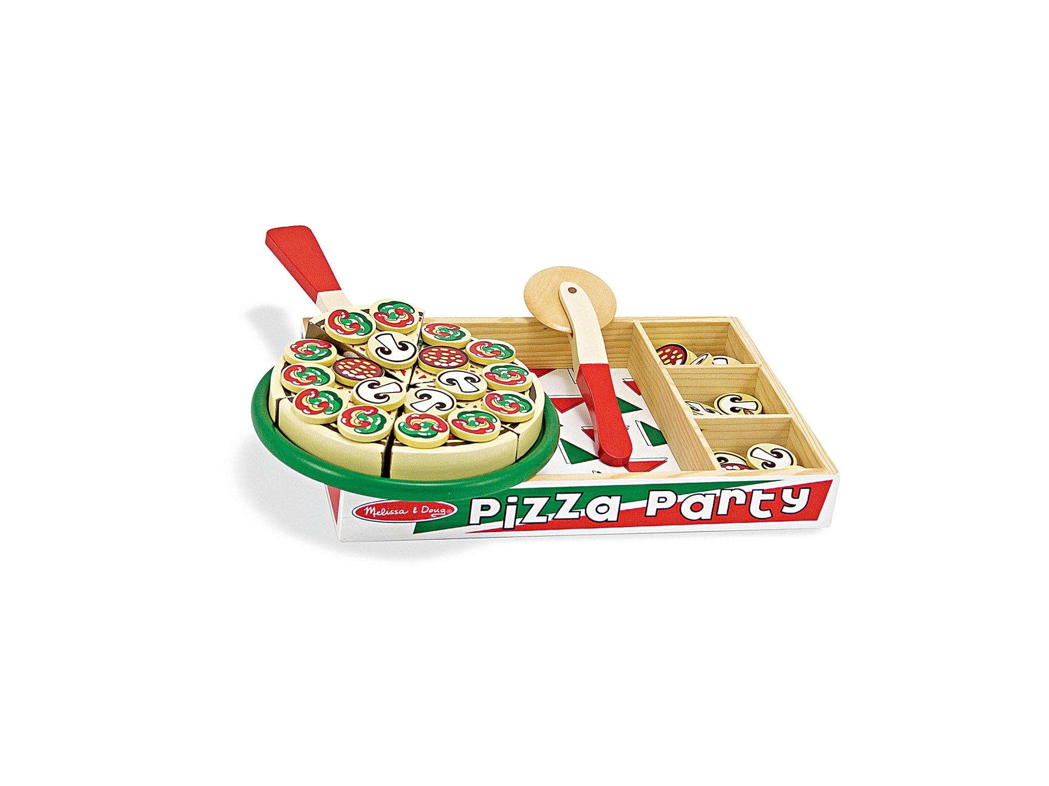 Brinquedo a imitar pizza