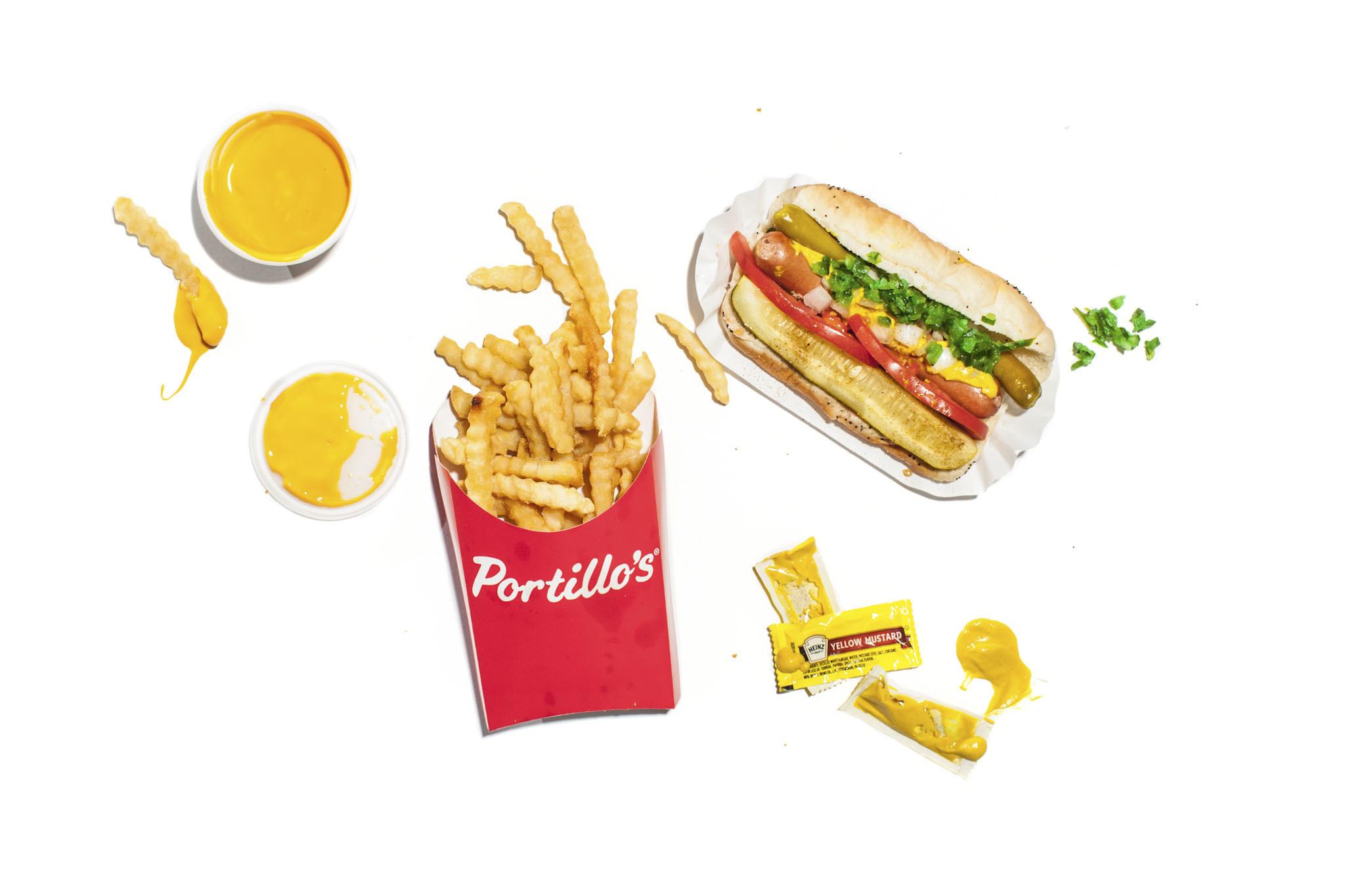 Hot dog at Portillo's