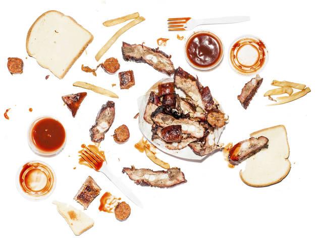 Mini rib tip/link combo at Honey 1 BBQ