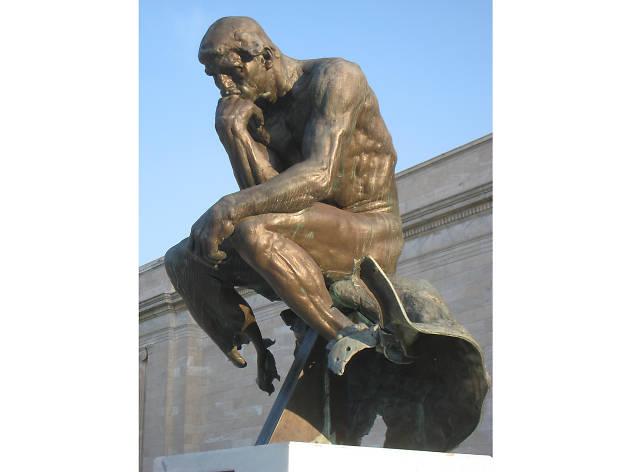 Auguste Rodin, The Thinker (vandalized 1970)