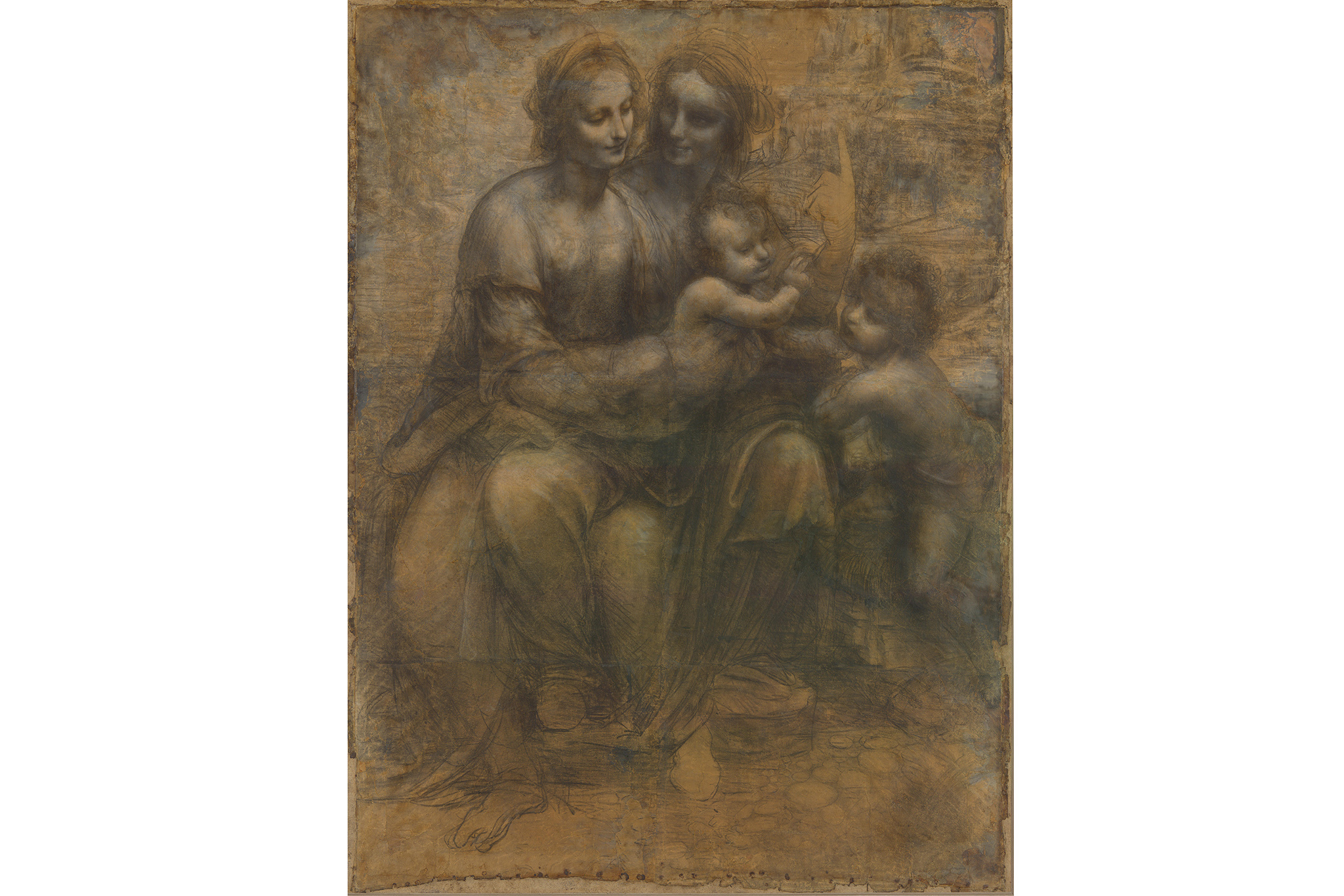 Leonardo da Vinci, The Virgin and Child with St Anne and St John the Baptist
