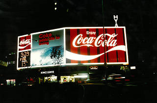 Kings X - Coke Sign, Archive Shot