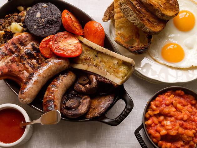 london's best full english breakfasts, fry ups, hawksmoor