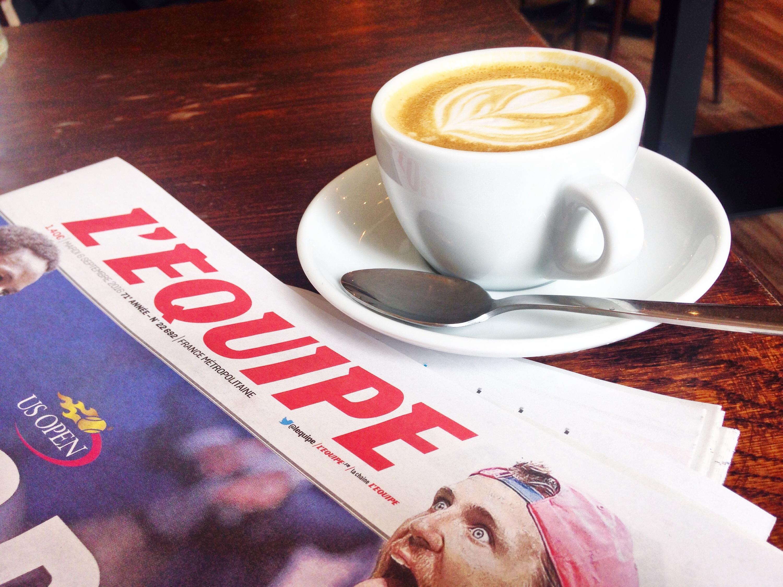 Compagnie du Café l'equipe journal cappuccino