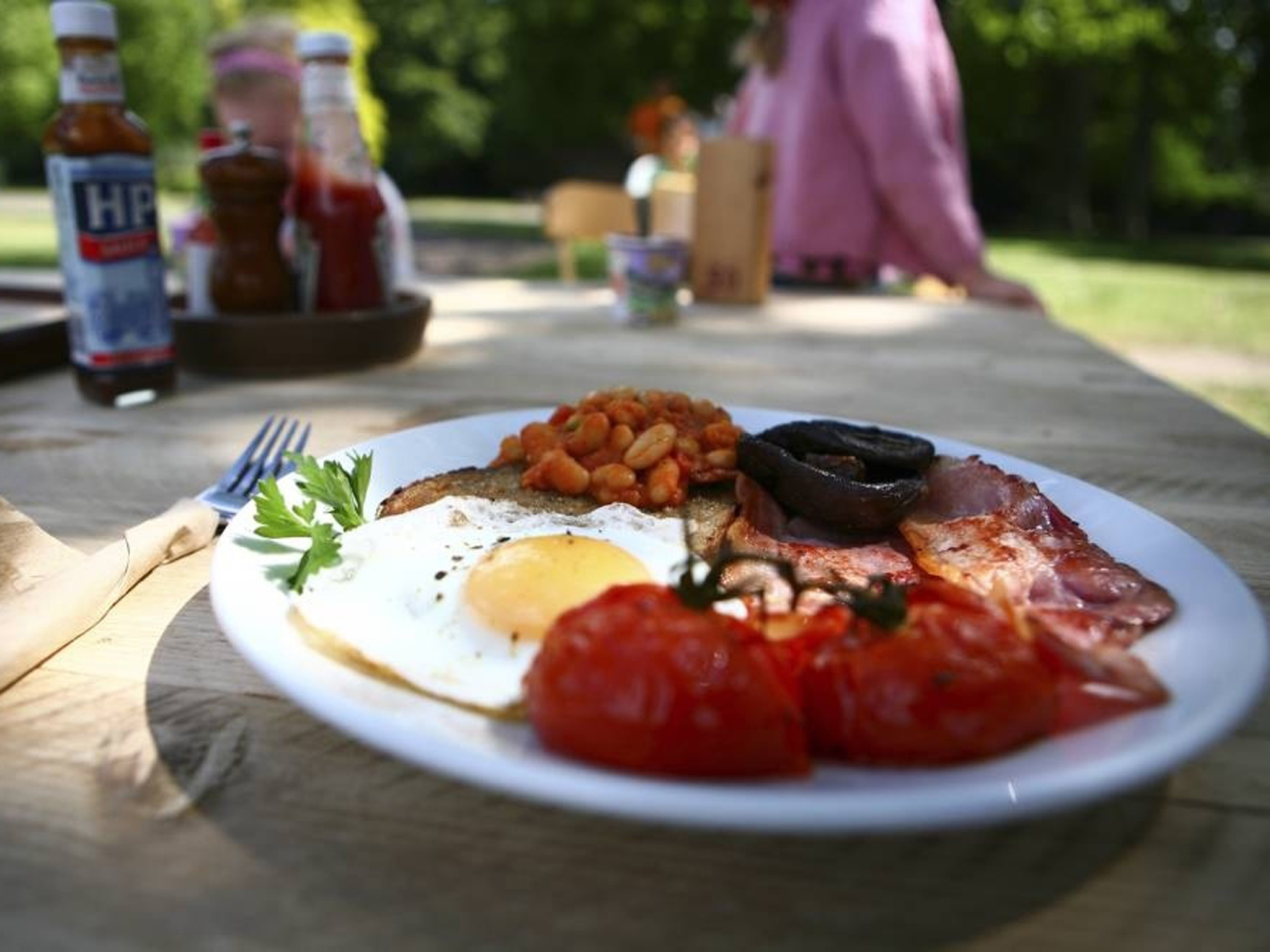 london's best full english breakfasts, fry ups, pavilion cafe